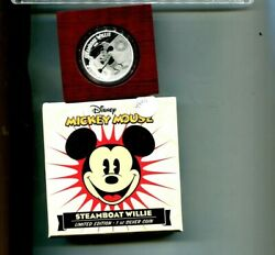 2014 Niue Mickey Mouse Disney 1 Ounce .999 Fine Silver Coin Proof 4909p