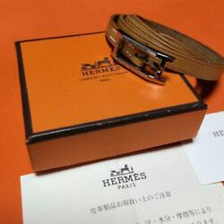 Hermes Accessory Api 3 Bracelet Bangle Camel Brown Excellent Condition With Box