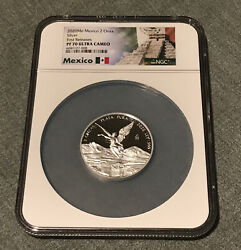 2020 Mexico 2 Oz Silver Libertad Proof Onza Coin Ngc Pf70uc Fr Exclusive Label