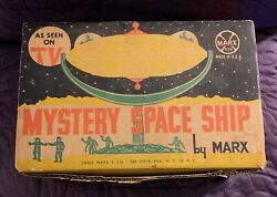 Marx Mystery Space Ship Boxed With Spacemen Astronauts And Rockets C.1960s