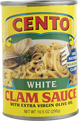 Cento White Clam Sauce Cans 10.5 Ounce Pack Of 12