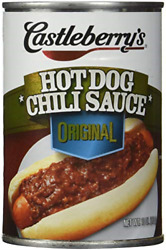 Castleberry's, Hot Dog Chili Sauce, Classic, 10oz Can Pack Of 6 - Set Of 4