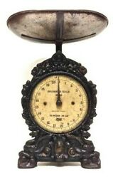 Antique Victorian Kitchen Scale Weights Salter The Ancient English Scales Cast