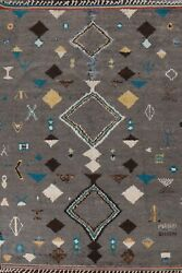 8x11 Moroccan Geometric Tribal Oriental Area Rug Hand-knotted Living Room Carpet