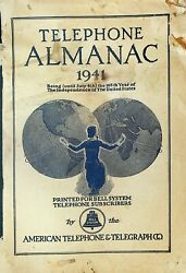 Telephone Almanac 1941 Atandt Bell System American Telephone And Telegraph
