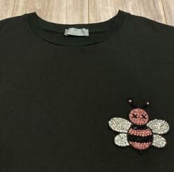 Dior Homme Kaws Pink Bee Collaboration T-shirt Menand039s Xs Black Cotton Rare198/kn