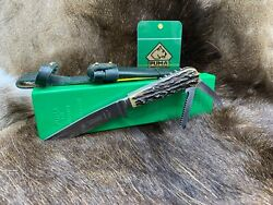 1971 3591 Waidmesser Knife With Stag Handles And Leather Sheath G / Y Box