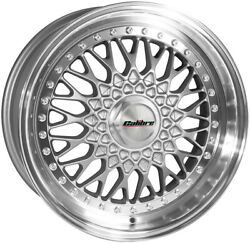 Alloy Wheels 16 Calibre Vintage Silver Polished Lip For Ford Fiesta [mk3] 89-97