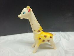 Vintage Rubber Squeeky Toy Giraffe With Swivel Head No Squeak