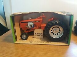 Vtg Ertl Allis Chalmers Big Ace Super Rod 1/16 Diecast Pulling Tractor And Box