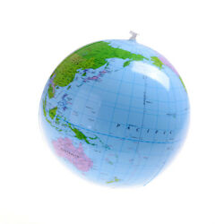 Inflatable Blow Up World Globe 16 Earth Atlas Ball Map Geography Toy H Jbcabc4