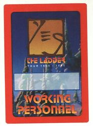 Yes the band 1999 2000 Ladder Tour Red Border WORKING PERSONNEL Backstage Pass