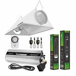 Hydroponic 600 Watt Hps Mh Grow Light Air Cooled Reflector Kit - Easy To Set Up