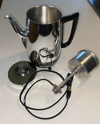 Vintage General Electric Coffee Maker Percolator 8-10 Cups — Not Immersible Good