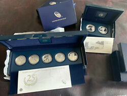 2011 Silver Eagle 25th Anniversary Coin Set And 2013 Silver Eagle West Point Set