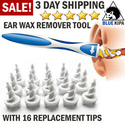 Ear Wax Remover Tool Ear Wax Cleaner Removal Spiral Picker Tips Q Grips Care Kit