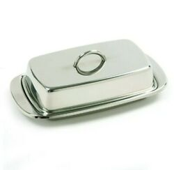 Stainless Steel Covered Butter Dish 6 X 3 Andfrac12 Inches