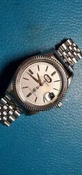 40mm Rare 60's Citizen 7 Auto Dater Ref.aw1407051 Day-date Stainless Steel Watch