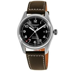 New Longines Black Dial Leather Strap Menand039s Watch L3.810.4.53.0