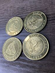 4x Usa Frontier Mint Gold Panning 1867 Eagle Medallion