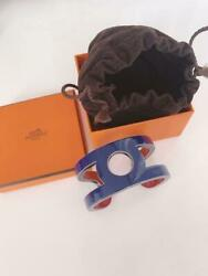 Hermes Accessory Bangle Bracelet New Unused Red/blue Size Small With Box Ladies