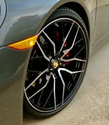 Porsche 911 Wheels 20andrdquo Used - Savini Black And Machined - Staggered - Set Of 4