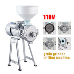 Commercial Grinder Dry And Wet Machine Rice Corn Grain Cast Iron 110v 60hz