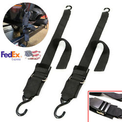 2 Pieces 4 Landtimes2 W Motorboat Trailer Fixing Release Straps Transom Tie Downs