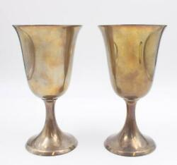 Birks Sterling Silver Wine Goblets 284.4g 6.37 X 3.5 Inches 1x Small Dent