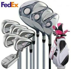 Solarie Golf Clubs Sets Ladys Set Drive Fairway Wood Irons Putter Graphite Shaft
