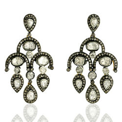 6.36ct Natural Diamond Dangle Earrings 925 Sterling Silver 14k Gold Jewelry