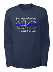 Because Heand039s Mine I Walk This Line Classic Long Sleeve T-shirt - 100 Cotton