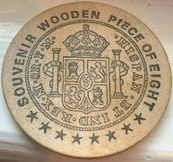 Wooden Piece Of Eight 8th Annual Mwna Convention Lanham Maryland July 1973