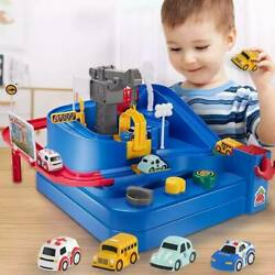 Toy Track Cars Racing Rail Diecast Car Race Train Children Christmas Bday Gifts
