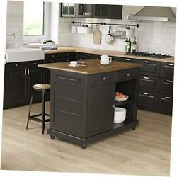 Kelsey 2 And Rustic Oak Kitchen Island With Stools Black