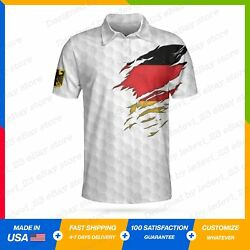 Germany Flag Classic Golf Style Gift Golf Lover Polo Shirt S-5xl