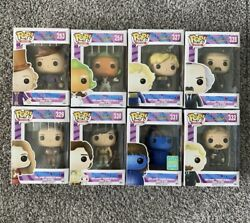 Funko Pop Movies Willy Wonka And The Chocolate Factory - Whole Set Of 8 Figures