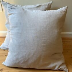 Nwot 400hawkins New York Linen/duck Feather/down Decorative 24andrdquox24andrdquo Pillow Pair