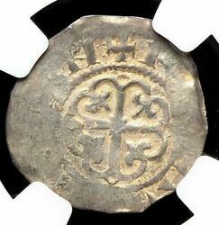 Norman. Stephen. 1135-1154. Silver Penny, Ragnwald On Lincoln, Ngc Ms61