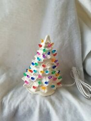 Small Ceramic Christmas Tree Made From A Vintage Mold Beautiful White Tree..