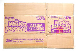 1982 Topps Wacky Packages Album Stickers Empty Wax Box Case 576