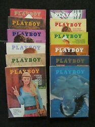 Playboy Magazines 1970 12 Issues Full Year Very Nice Copies See Pics