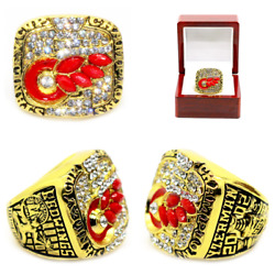 2001-2002 Detroit Red Wings Stanley Cup Championship Ring Premium Size 8-13