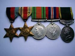 Ww2 British Military Police Pte Bodger Rmp And Territorial Efficiency Medal Group