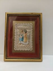 Framed Antique Birthday Greeting Card From 1890and039s