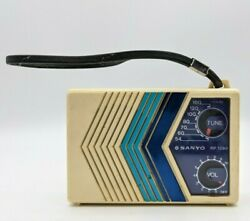 Vintage Sanyo Rp-1390 Transistor Radio Tested And Works