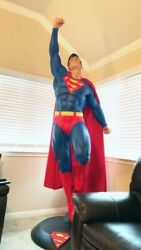 Classic Superman Lifesize Statue Taking Off W/ Base New In Box Free Delivery