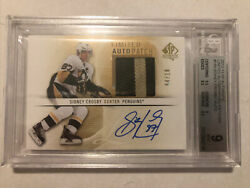 2012-13 Sp Authentic Sidney Crosby Limited Autographed Patches 150 04/10 Bgs 9