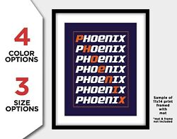 Phoenix Suns Photo Poster Basketball Letter Picture Print 8x10 11x14 Or 16x20