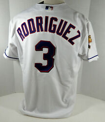 2001 Texas Rangers Alex Rodriguez 3 Authentic White Jersey 100 P Rawling Nwt 48